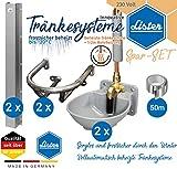Komplett-Set Tränkebecken SB 22 Doppelpack + Rohrschutz + Schutzbügel + 50m ALU-Isolierband   frostsicher bis -20°C   mit Pendelventil
