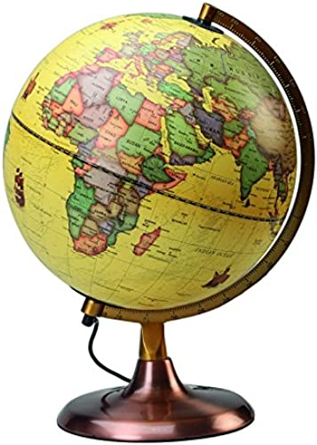 Globe Politik beleuchtet Antik D 23  gelb