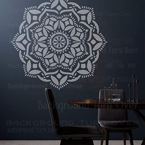 110cm Huge Giant Mandala Indian Arabic Ethnic Round Plantillas Plantilla Para Paredes Decoración Grande Plantillas De Azulejos Pintura Pintura Pisos Grandes Patrón De Plantilla De Muebles