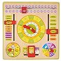 Kenyaw Reloj Educativo De Madera, Reloj Anual para Niños. Reloj Educativo para Niños. por Kenyaw