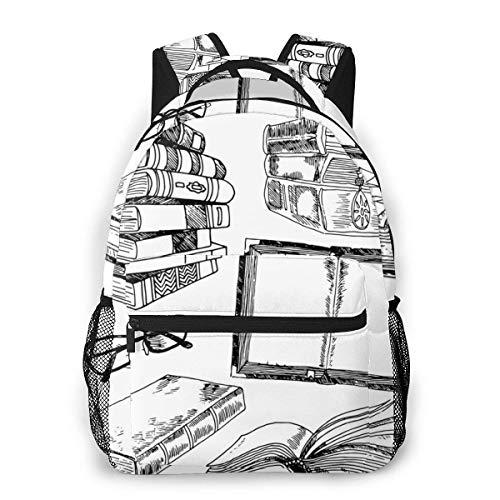 DJNGN Mochila para ordenador portátil, 15.6 pulgadas, elegante mochila escolar escolar y gafas personalizadas resistentes al agua, día casual