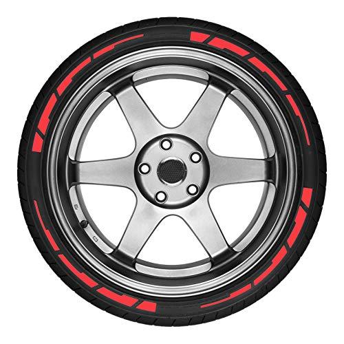 Pegatinas de neumáticos de coche tridimensional 3D PVC Pegatinas de letras de caucho blando (Color Name : Red)