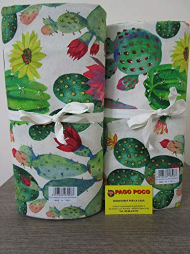 Pago Poco Novita !!! Collezione 2019-2020!!! Telo Arredo Copritutto Disegno Cactus Made in Italy !!! (270x270cm) 100% Cotone