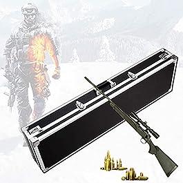 WSVULLD Pistolet portant une caisse longue, cas d'armes à feu dur avec protection éponge, matériau en alliage d…