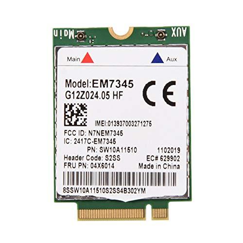 Tarjeta Em7345, LTE/HSPA + Compatible con Tarjeta de módulo de Alta Velocidad, para Viajes de Negocios Thinkpad X250 X1C W550 T450 X240 T440 WCDMA