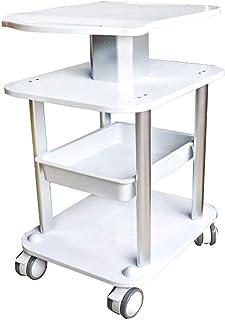KANJJ-YU Hôpital Chariot, fournitures médicales Rack, Beauté Panier Portable Argent médical Salon Chariots roulants, petit...