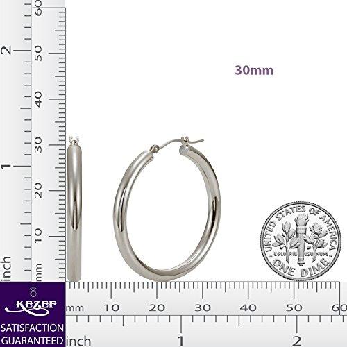 3mm Click Top Tube Hoop Earrings 925 High Polish, 5 Sizes