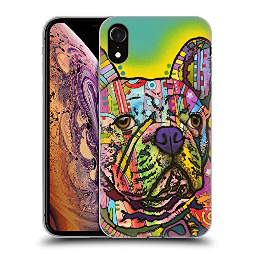 Head Case Designs Officially Licensed Dean Russo French Bulldog Dogs Soft Gel Case Compatible with Apple iPhone XR
