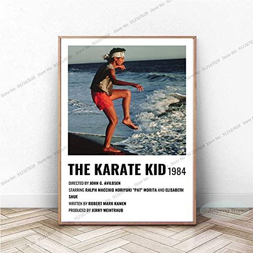 meishaonv The Karate Kid Movie Vintage Painting Canvas Wall Art Picture Sala de Estar Decoración para el hogar A214 50 × 70CM Sin Marco