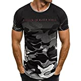 Tee Shirt Imprimer Camouflage T-Shirt Homme Camouflage Tee-Shirt Fitness Homme Tshirt Homme Pas Cher T Shirt Manches Courtes Tee Tunique Homme Vetement Homme Pas Cher WINJIN