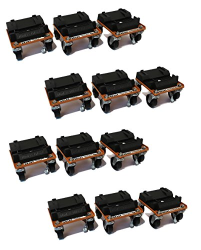 Lowest Prices! (4) New Snow Plow/Blade ROL-A-Blade Caster Dollies Set of 12 - Easy Storage & Moving