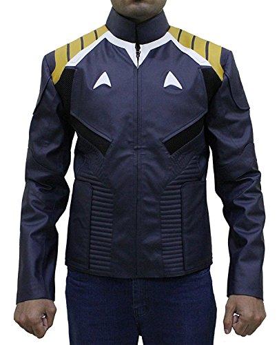 LP-FACON Star Trek Beyond Chris Veste en similicuir pour homme Bleu - Bleu - XXL