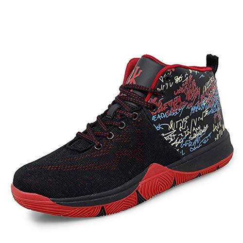 Zapatillas de Baloncesto de caña Alta para Hombre, Zapatillas de Deporte Transpirables de Malla, Zapatillas Deportivas de Moda de Color Mixto Antideslizantes para Correr