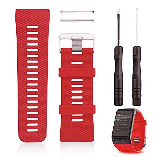 OOTSR Reemplazo de la Pulsera para el Reloj Garmin Vivoactive HR, Pulsera de Silicona Reloj Correa Smartwatch Banda para el Reloj Garmin Vivoactive HR Fitness (Rojo)
