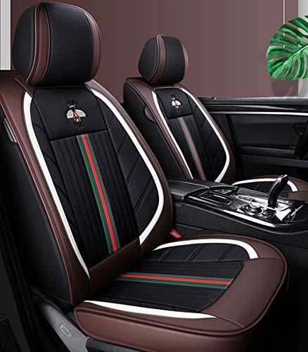 Cubiertas de asiento de automóviles Conjunto completo Universal 5 asientos Auto Deluxe Funda de cuero de cuero deluxe delantero y trasero Protector Ajuste Hyundai Sonata Rav4 Coralla,D