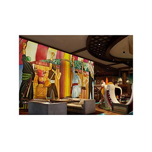 Blovsmile One Piece Monkey.D.Luffy/Roronoa Zoro 3D Foto tapete Vlies Premium Art Print Wandbild Dekoration Poster Bild-300 * 200