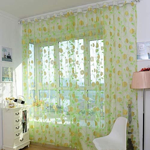 Jyuesi fabelhafter europäischer Stil Fashion Jacquard Sheer Gardine Schlafzimmer Fenster Tüll Glas Paravent Pink Gelb Grün Blau Vergoldet...
