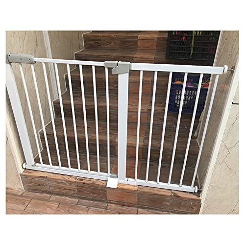 Barrera De Seguridad, Niños Valla Tornillo De Presión por Puerta Pasillos Hueco De Escalera, Autoclose, Ancho De Extensión De Los 76-223cm (Color : White, Size : 188cm-195cm)