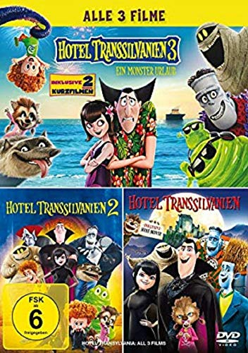 Hotel Transsilvanien 1-3 Collection [3 DVDs] Teil 1+2+3 Alle Teile