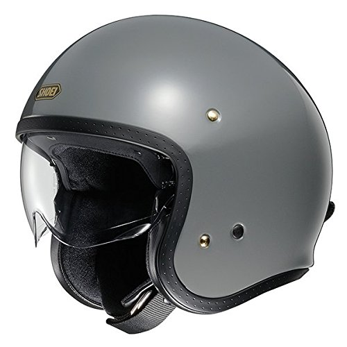 Shoei J.O. Jethelm Motorradhelm Scooter Helm Grau XL (61-62cm)