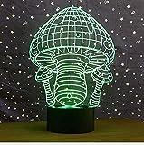 Luz nocturna Seta Colorido Interfaz USB 3D Luz visual Toque Arte Lámpara óptica Decoración del dormitorio Regalo para niños Acrílico