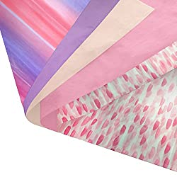 Pink watercolor tissue paper perfect for making multi coloured pom poms
