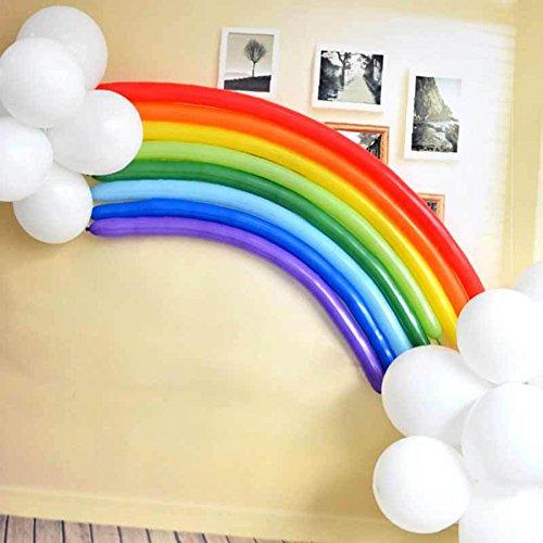 shyymaoyi - Globos de látex arcoíris para decoración de Bodas, cumpleaños, Fiestas, 25 Unidades