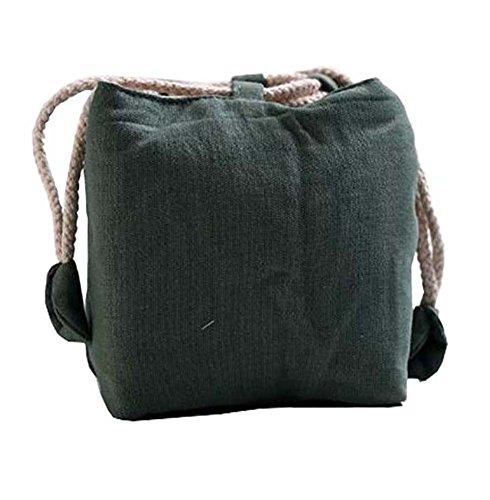 Black Temptation Sac de Stockage de thé, Sac portatif de Stockage de thé de Voyage pour 1 théières et 4 Tasses(Vert)