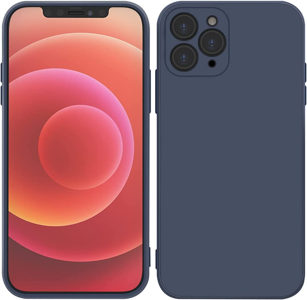Blue iPhone 11 pro max Case - Shockproof Slim Fit Silicone TPU Soft Rubber Cover Protective Bumper for Apple iPhone 11 pro max for Boys Girls Woman Man{6.5inch} (Blue)