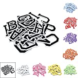 """Black Iron on Letters for Clothing,Set of 26 Iron on Patches for Clothing,1.6"""" x 2"""""""