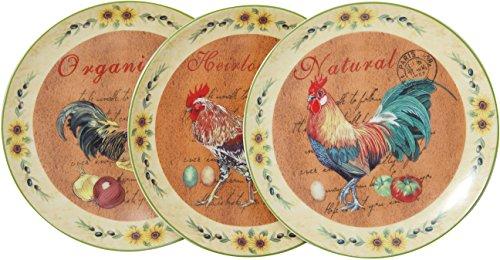 Biscottini Set di Piatti Ornamentali in Ceramica Decorata da Parete, Decorazione Set di Tre Piatti incantevoli Set da Parete