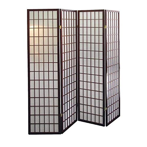 ORE International 4-Panel Room Divider, Cherry