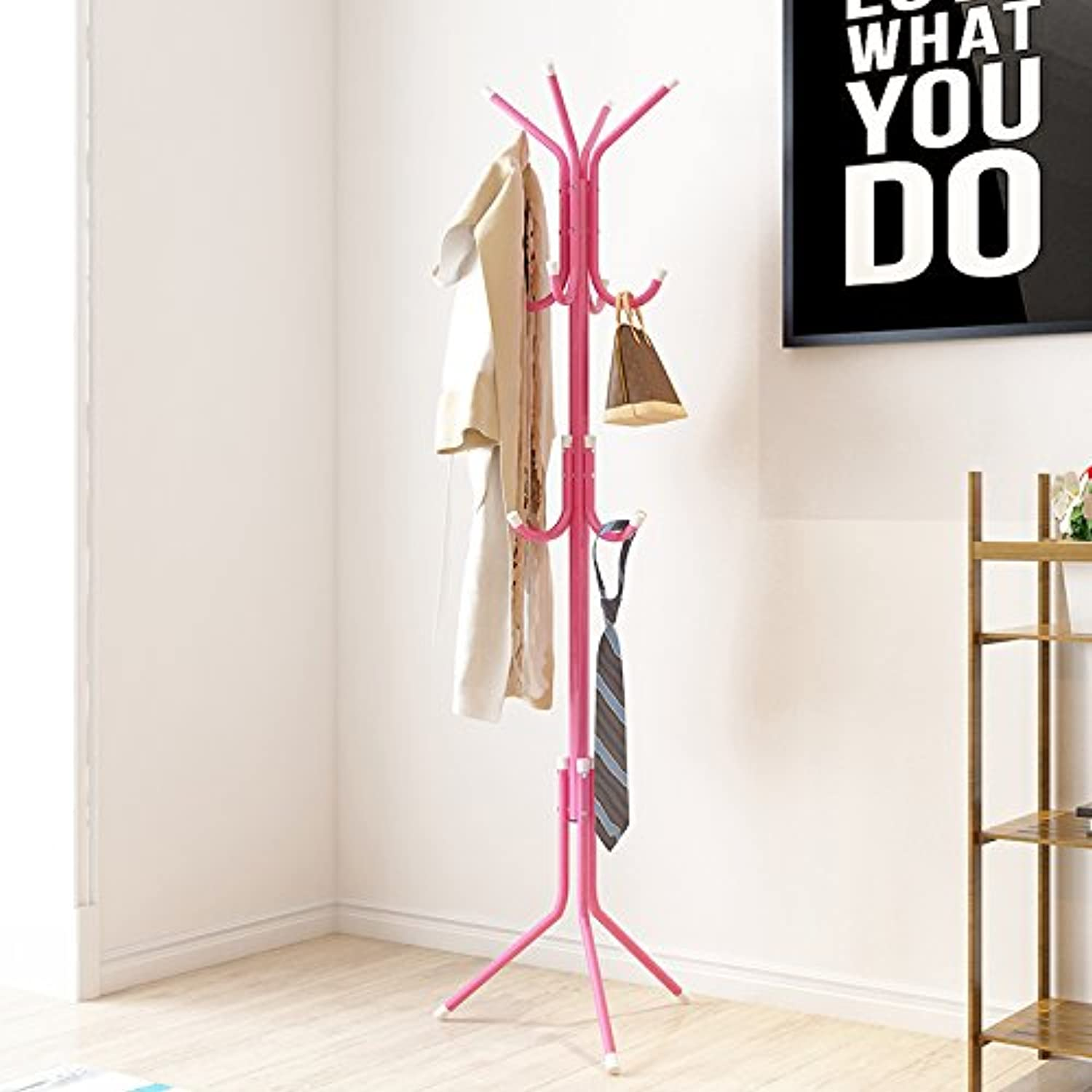 Simple Bedroom Hanger Coat Rack Floor Clothes Fashion Creative Iron Storage Rack Hanger