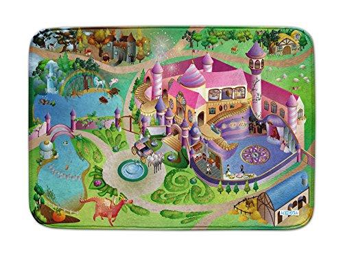 Spielteppich Ultrasoft - Rutschfest 100 x 150 cm (Prinzessinen Schloß)