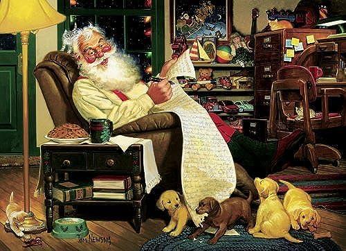 Family Puzzles Santa's Homework by Family Puzzles