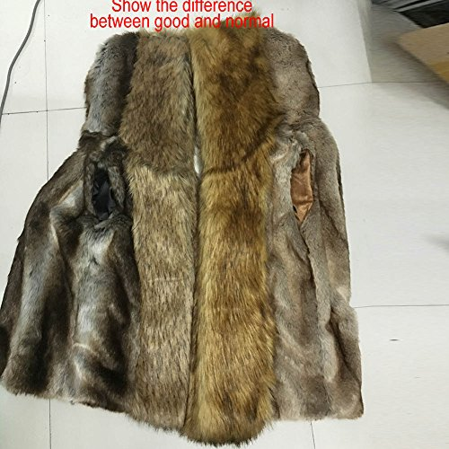 Moonwalk Men`s Faux Fur Hooded Vest