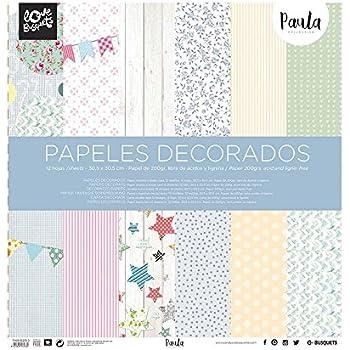 Busquets - Papeles Decorados Scrapbooking Paula 30,5x30,5: Amazon.es: Equipaje