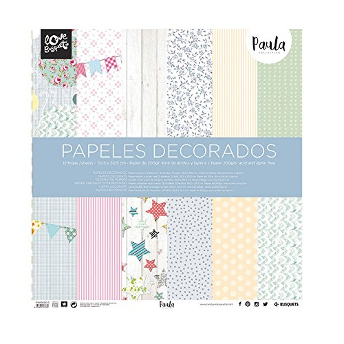 Busquets - Papeles Decorados Scrapbooking Paula 30,5x30,5