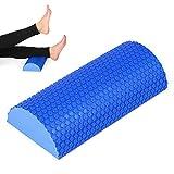 Lixada Rodillo de Espuma EVA Semicircular de 45 cm con Punto de Masaje Ejercicio Gimnasio Fitness Pilates Yoga Blocks