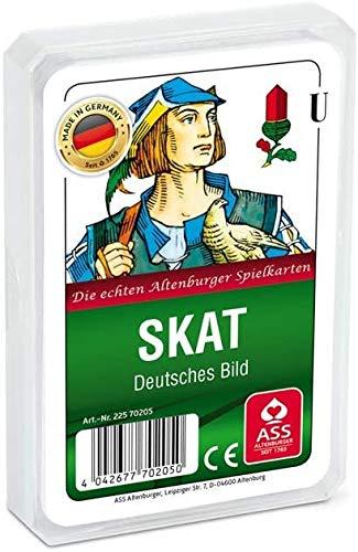Zehnerpaket/ 10 Stück / 10x ASS Altenburger - Skat - Deutsches Bild - Deutsches Blatt / Kornblume - Kartenspiel/ Kartenspiele, weiß