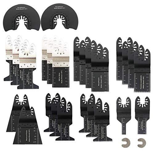 GGOOD 28PCS oscilante Multiherramienta de Sierra de Metal Apto para Bosch Makita DeWalt Dremel y más, Suministros Herramienta y Accesorios