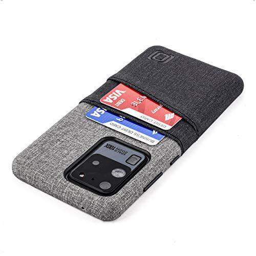 Dockem Funda Cartera para Samsung Galaxy S20 Ultra: Funda Tarjetero Slim con Placa de Metal Integrada para Soporte Magnético: Luxe M2 6.9' [Negro y Gris]