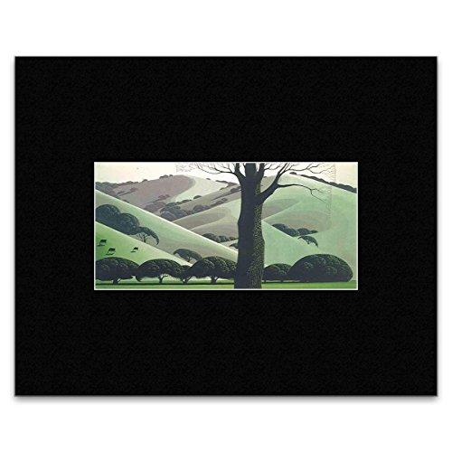 Stick It On Your Wall EYVIND Earle Mini-Poster Santa Ynez Weiden 8 x 16,5 cm