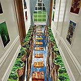 KIJH Tapis de Couloir d'aventure Amusant 3D Tapis de Cuisine de Chambre d'enfants Tapis de Jeu décoratif Tapis de Zone Tapis pastoraux pour Salon, no-08, personnalisé