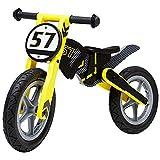 Hejok Laufrad Baby, Kinderlaufrad Kinderlaufrad Lernrad FüR Jungen Und MäDchen Gelb Schwarz GrößE 83 * 49 cm, Yellow