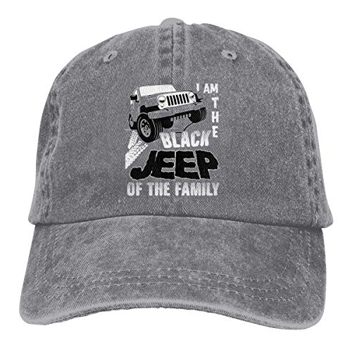 Presock I Am The Black Jeep of The Family Cowboy Caps Unisex Trucker Baseball Hat