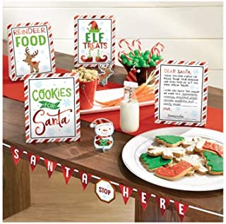 Christmas Deluxe Buffet Decorating Kit-Cookies for Santa Christmas Party Supplies Santa Stops here-