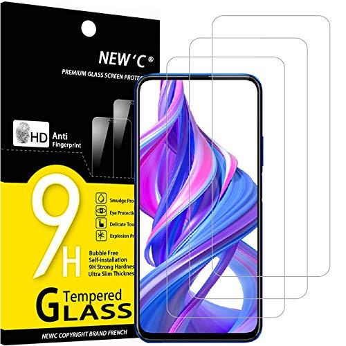 NEW'C 3 Stück, Schutzfolie Panzerglas für Honor 9X, Honor 9X Pro, Frei von Kratzern, 9H Festigkeit, HD Bildschirmschutzfolie, 0.33mm Ultra-klar, Ultrawiderstandsfähig