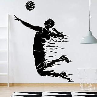 wZUN Calcomanías de Pared de Voleibol Sala de Fitness Deportes de Pelota Vinilo Gimnasio Pegatinas de Pared decoración del...
