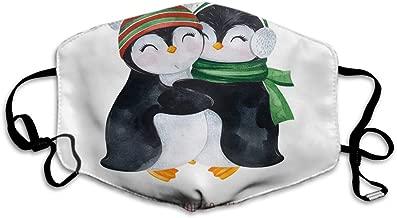 Makala Maske Eule, lustige Winter-Eule, sitzt auf Kiefernzweigen unter Schnee, Anti-Staub-Maske, waschbar und wiederverwendbar, für Radfahren, Camping, Outdoor